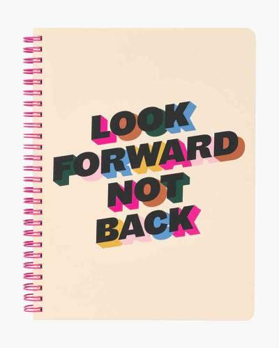 Look Forward Not Back Rough Draft Mini Notebook