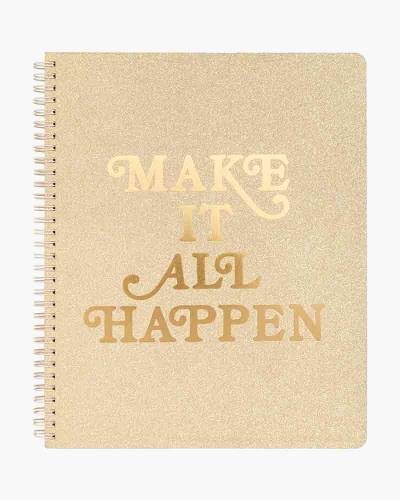 Make It All Happen Rough Draft Large Notebook