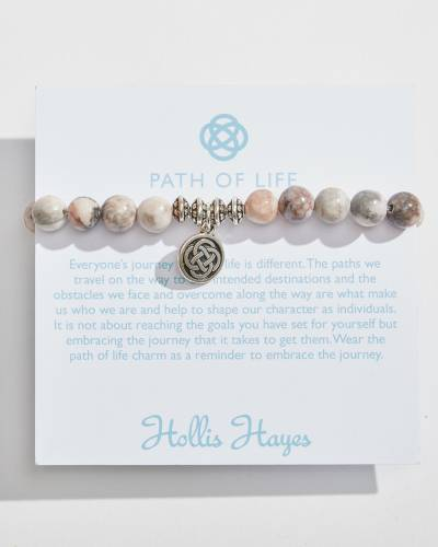 Silver Path of Life Beaded Bracelet
