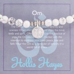 Hollis Hayes Silver Om Beaded Bracelet