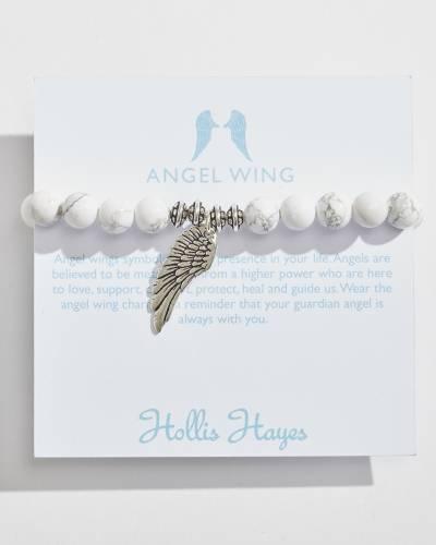 Silver Angel Wing Beaded Bracelet