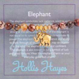 Hollis Hayes Gold Elephant Beaded Bracelet