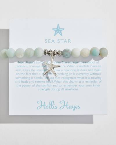 Silver Sea Star Beaded Bracelet