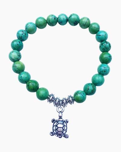 Silver Turtle Beaded Bracelet