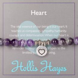 Hollis Hayes Silver Heart Beaded Bracelet