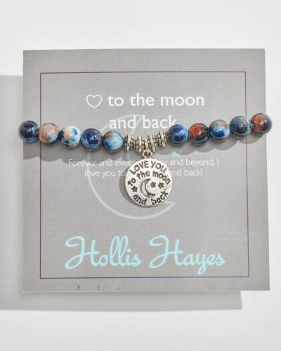 To the Moon and Back Beaded Bracelet in Moonlit Rainbow Jade