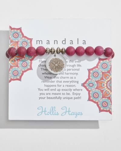 Mandala Beaded Bracelet in Berry