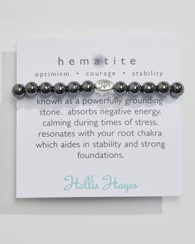 Exclusive Hematite Beaded Bracelet (The Healing Collection)