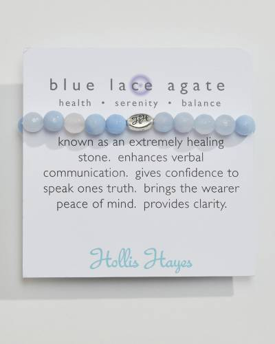 Exclusive Blue Lace Agate Beaded Bracelet (The Healing Collection)