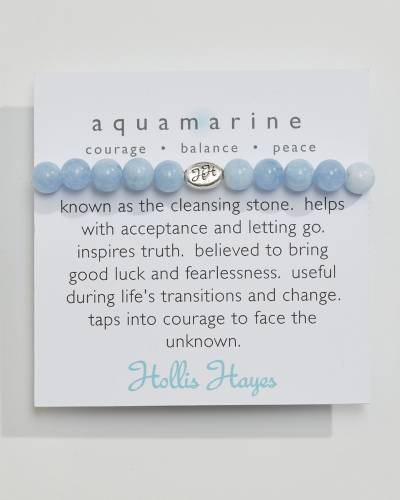 Exclusive Aquamarine Beaded Bracelet (The Healing Collection)