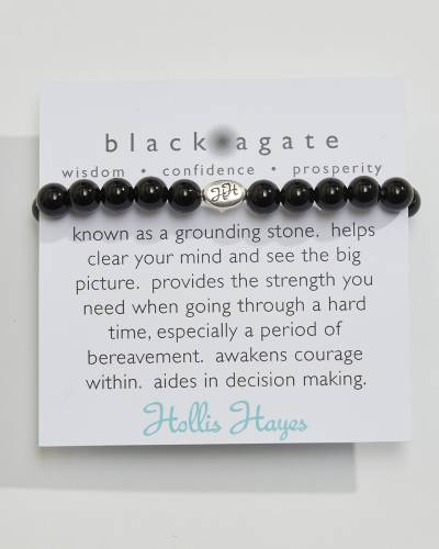 Exclusive Black Agate Beaded Bracelet (The Healing Collection)