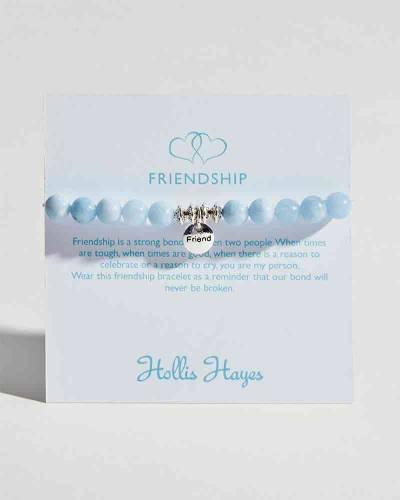 Friendship Beaded Bracelet in Aquamarine