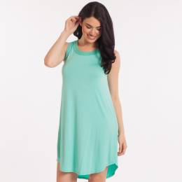 Emma's Closet Crochet Trim Dress in Mint