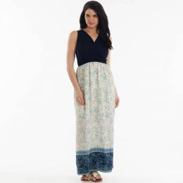 Gilli Floral Surplice Maxi Dress