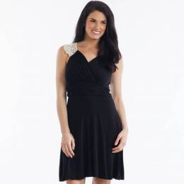 Gilli Lace Back Dress in Black