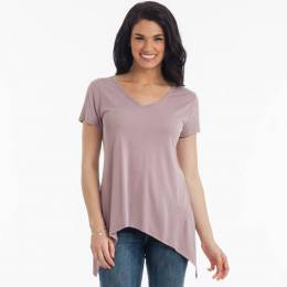 Le Lis Asymmetrical Sharkbite Top in Mauve