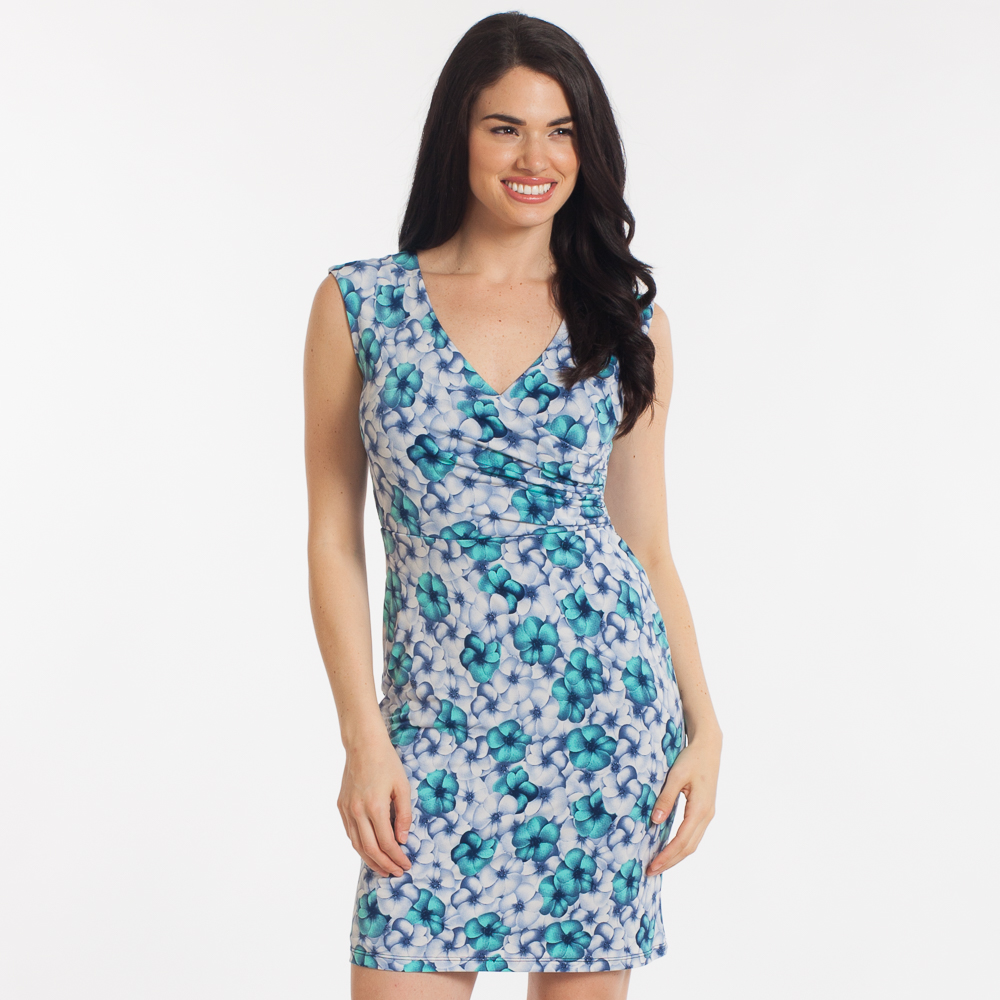 Gilli Layered Floral Surplice Dress