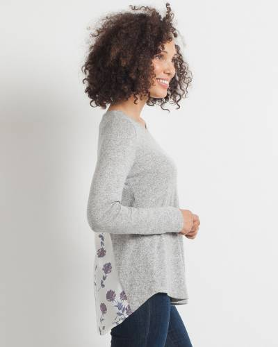Exclusive Ivory Floral Back Top