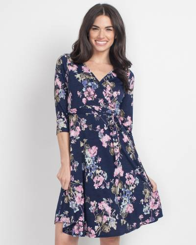 Exclusive Wrap Front Floral Dress