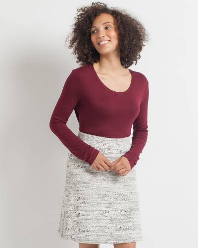 Exclusive Textured A-Line Skirt