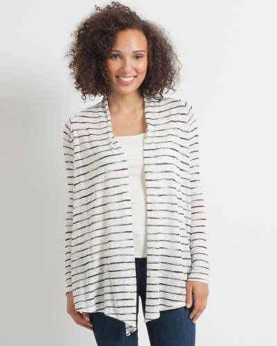 Exclusive Black and White Space Dye Cardigan