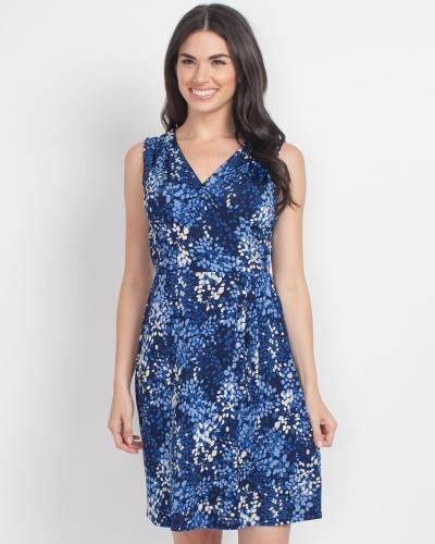 Exclusive Blue Kaleidoscope Print Dress
