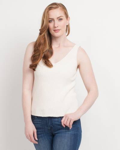 Exclusive Chunky Knit Tank in Ivory