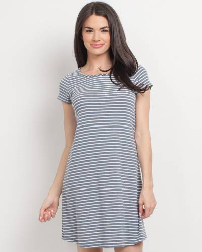 Exclusive Cross Back Striped Dress