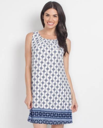 Exclusive Navy Tile Print Dress