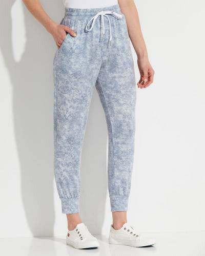 Exclusive Garment Dyed Jogger Pants in Blue