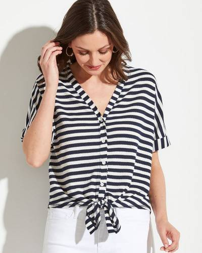 Knotted Button Down Top