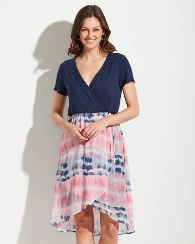 Exclusive High-Low Tie Dye Hem Dress