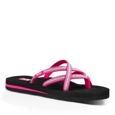 Olowahu Women's Sandals in Pintado Raspberry