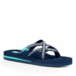 Teva Olowahu Women's Sandals in Waterfall Navy Multi