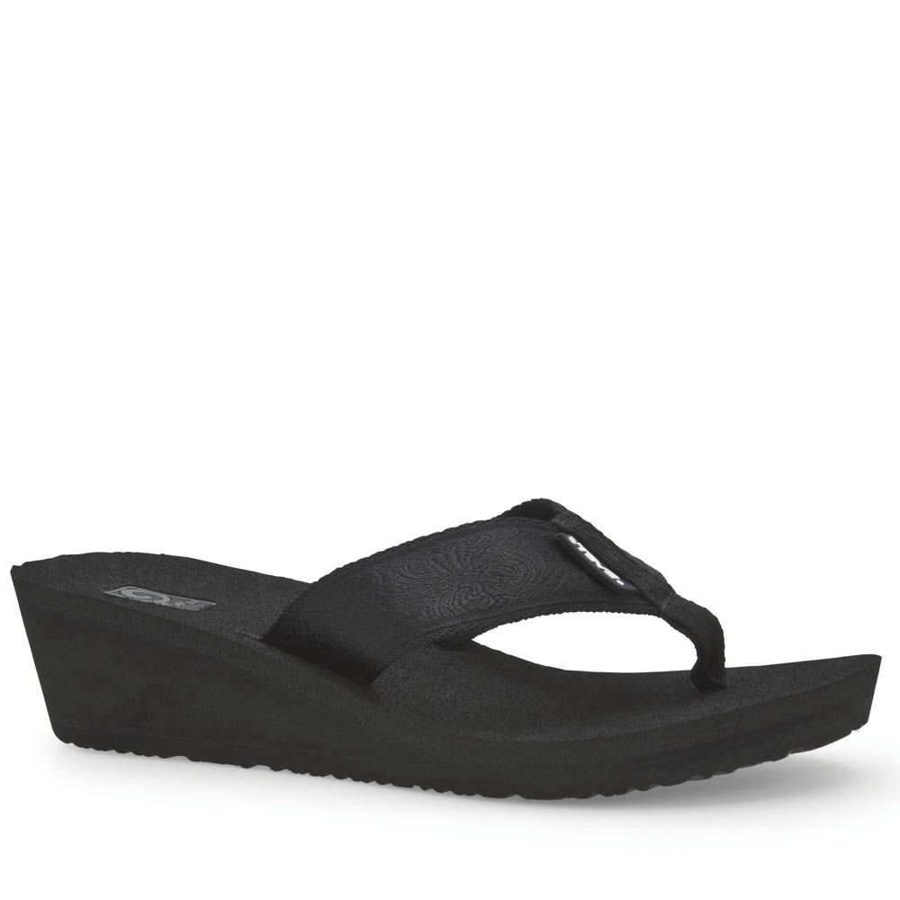 10ff6657204cf2 ... Teva Mush Mandalyn Wedge 2 Women s Sandals in Black Out The Paper Store  best shoes ...