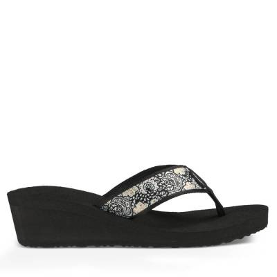 Mush Mandalyn Wedge 2 Women's Sandals in Harmony Black and White