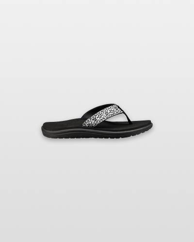 Women's Voya Flip Flops in Black and White