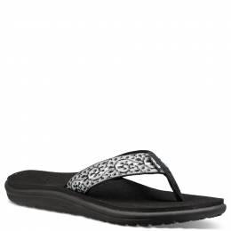 Teva Women's Voya Flip Flops in Black and White