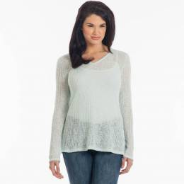 Rokoko Open-Weave Sweater in Mint