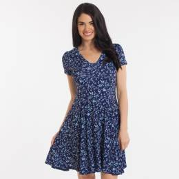 Rokoko Floral Pattern Dress