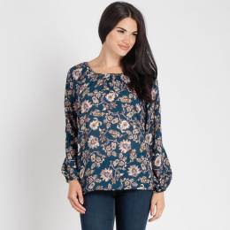 Mia + Tess Designs ™ EXCLUSIVE Scoop Neck Floral Top