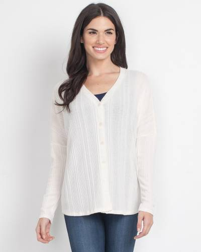 Exclusive Textured Button-Up Top