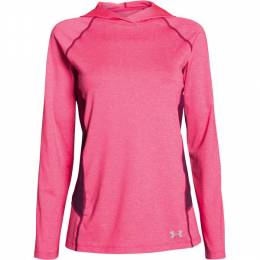 Under Armour Women's UA CoolSwitch Trail Hoodie in Pink Shock