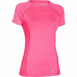 Under Armour Women's UA Coolswitch Trail T-Shirt in Pink