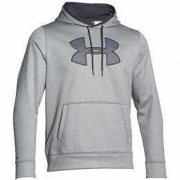 Under Armour Men's UA Storm Armour Fleece Big Logo Hoodie in True Grey Heather