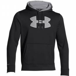 Under Armour Men's UA Storm Armour Fleece Big Logo Hoodie in Black