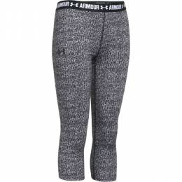 Under Armour Girl's UA Heat Gear Armour Printed Capris