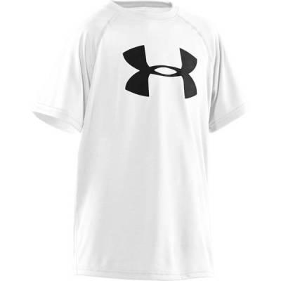 UA Tech Big Logo Boy's Short Sleeve Tee in White