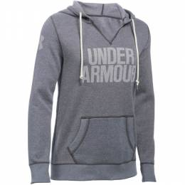 Under Armour Women's UA Favorite Fleece Popover Hoodie in Carbon Heather