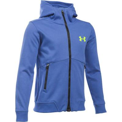 Boy's UA ColdGear Infrared Dobson Softshell Jacket in Blue
